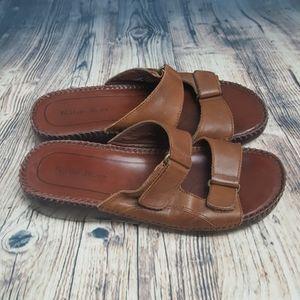 Naturalizer Brown Slip On Sandals Size 7.5